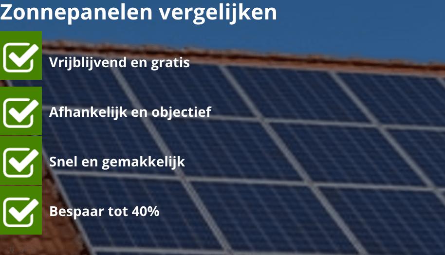 zonnepanelen vergelijken